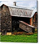 Weathered New England Barn Canvas Print