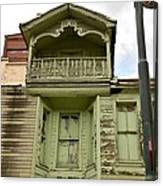 Weathered Old Green Wooden House Canvas Print