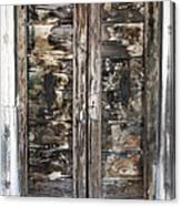 Weathered Wood Door Venice Italy Canvas Print