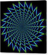 Web Mandala Canvas Print