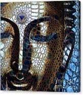 Web Of Dharma - Modern Blue Buddha Art Canvas Print