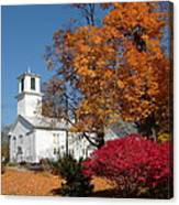 Webster Church On A Fall Day Canvas Print