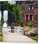 Wedding Arrangement In De Haar Castle. Utrecht  Canvas Print