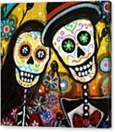 Wedding Dia De Los Muertos Canvas Print