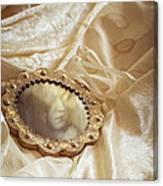 Wedding Dress And Mirror Canvas Print