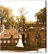 Wedding In Central Park Canvas Print
