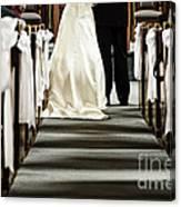 Wedding In Church Canvas Print