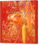Wedding Joy Greeting Card - Turks Cap Lilies Canvas Print