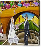 Wedding On Barge Canvas Print