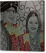 Wedding Sketch Canvas Print