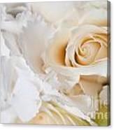 Wedding White Flowers Canvas Print