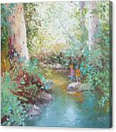 Weekends At The Creek Canvas Print