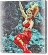 Weeki Wachee Mermaid Canvas Print