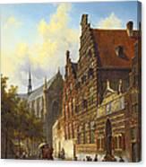 Weeshuis In Leiden Canvas Print