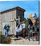 Weighing Cotton In The Field 1930s Canvas Print