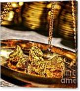 Weighing Gold Canvas Print