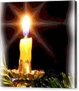 Weihnachtskerze - Christmas Candle Canvas Print