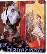 Weimaraner Art Canvas Print - Der Blaue Engel Movie Poster Canvas Print