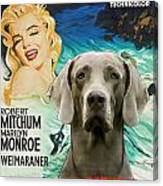 Weimaraner Art Canvas Print - River Of No Return Movie Poster Canvas Print
