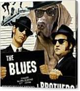 Weimaraner Art Canvas Print - The Blues Brothers Movie Poster Canvas Print