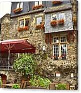 Weinhaus Restaurant Bachrach Germany Canvas Print