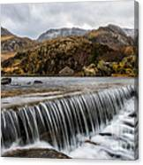 Weir At Ogwen Canvas Print