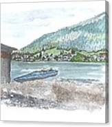 Weissensee Canoo Canvas Print