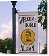 Welcome Home Banner Canvas Print