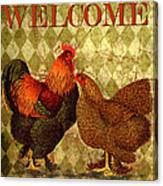 Welcome Rooster-61412 Canvas Print
