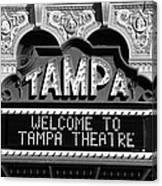 Welcome Tampa Canvas Print