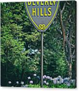 Welcome To Beverly Hills Canvas Print