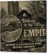 Welcome To Empire Michigan Canvas Print