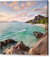 Welcome To La Digue Canvas Print