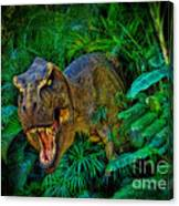 Welcome To My Park Tyrannosaurus Rex Canvas Print