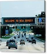 Welcome To New Jersey Canvas Print
