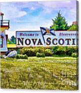 Welcome To Nova Scotia Canvas Print