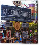 Welcome To Radiator Springs Canvas Print