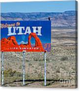Welcome To Utah Canvas Print