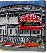 Welcome To Wrigley Field Canvas Print