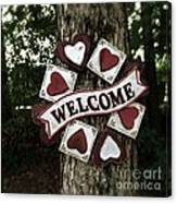 Welcome With Love Canvas Print