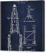 Well Drilling Apparatus Patent From 1960 - Navy Blue Canvas Print