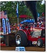 Well Spent Pulling Tractor Canvas Print