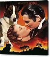 Welsh Corgi Cardigan Art Canvas Print - Gone With The Wind Movie Poster Canvas Print