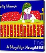 Welsh Snowman Bedtime  Canvas Print