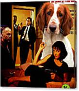 Welsh Springer Spaniel Art Canvas Print - Pulp Fiction Movie Poster Canvas Print