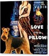 Welsh Terrier Art Canvas Print - Love On A Pillow Movie Poster Canvas Print