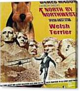 Welsh Terrier Art Canvas Print - North By Northwest Movie Poster Canvas Print