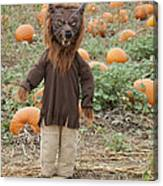 Werewolf In The Pumpkin Patch Canvas Print