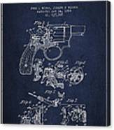 Wesson Hobbs Revolver Patent Drawing From 1899 - Blue Canvas Print