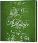 Wesson Hobbs Revolver Patent Drawing From 1899 - Green Canvas Print